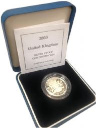 2003 Silver Proof One Pound Coin for sale